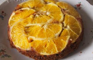 Кофейный пирог с апельсинами (пошаговый фото рецепт)
