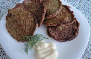 Печеночные блинчики с базиликом (пошаговый фото рецепт)