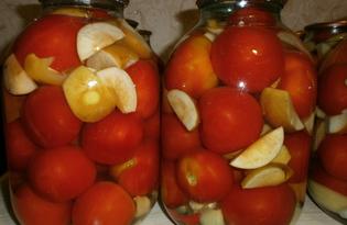 Консервированные помидоры с зелеными яблоками по-немецки (пошаговый фото рецепт)