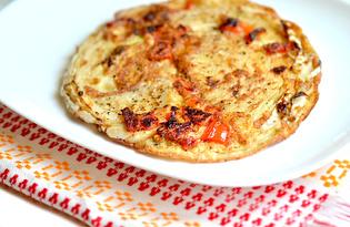 Омлет с капустой (пошаговый фото рецепт)