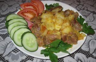 Куриные желудки с картошкой (пошаговый фото рецепт)