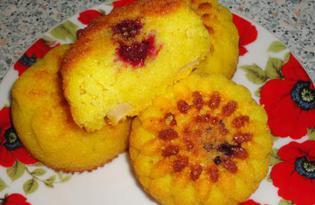 Манные кексы с ежевикой (пошаговый фото рецепт)