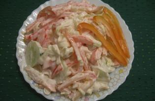 Салат с луком пореем (пошаговый фото рецепт)