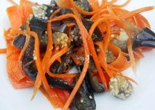 Баклажаны по-корейски с морковью (пошаговый фото рецепт)