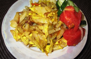 Картофель с яйцом по-деревенски (пошаговый фото рецепт)