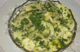 Закуска из маринованных кабачков (пошаговый фото рецепт)