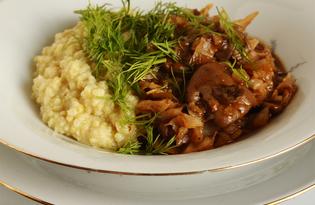 Грибное рагу с капустой (пошаговый фото рецепт)