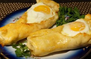 """Пирожки с сыром и яйцом """"Башмачки"""" (пошаговый фото рецепт)"""