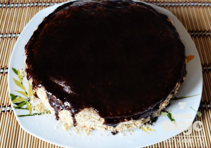 Шоколадная глазурь для сметанного торта с пошагово