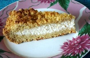 """Песочный пирог с творожной начинкой """"Королевская лепёшка"""" (пошаговый фото рецепт)"""