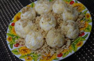 Сырные шарики с виноградом (пошаговый фото рецепт)