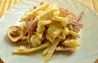 Салат с грибами и яблоками (пошаговый фото рецепт)