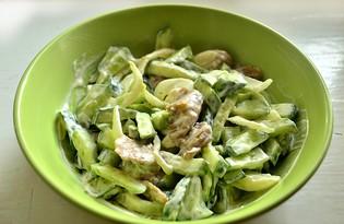 Салат с огурцами и маринованными грибами (пошаговый фото рецепт)