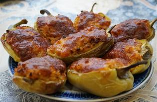 Перец фаршированный запеченный в духовке (пошаговый фото рецепт)