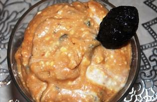 Крем из творога и сгущенки с черносливом (пошаговый фото рецепт)