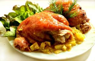 Куриные бедра с кабачками (пошаговый фото рецепт)