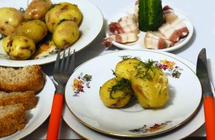 Молодой картофель по-холостяцки (пошаговый фото рецепт)
