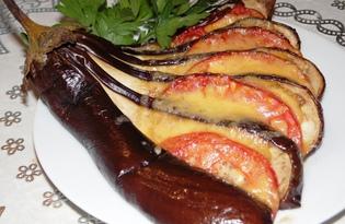 Веер из баклажанов с помидорами (пошаговый фото рецепт)