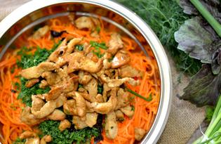 Морковь по-корейски с курицей (пошаговый фото рецепт)