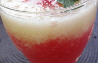 Фреш из арбуза и дыни (пошаговый фото рецепт)