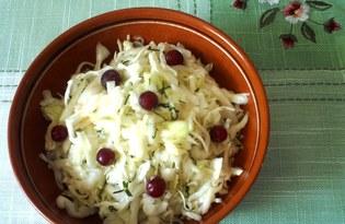Салат из белокочанной капусты с яблоком (пошаговый фото рецепт)