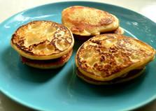Оладьи с начинкой (пошаговый фото рецепт)