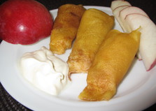 Налистники, тушенные на яблоках (пошаговый фото рецепт)