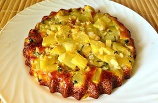 Наливной пирог с кабачками (пошаговый фото рецепт)