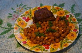 Нут с овощами и уткой (пошаговый фото рецепт)