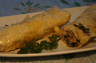 Закуска из лаваша в духовке (пошаговый фото рецепт)