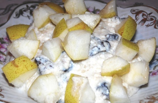 Творожный десерт с черносливом и грушей (пошаговый фото рецепт)