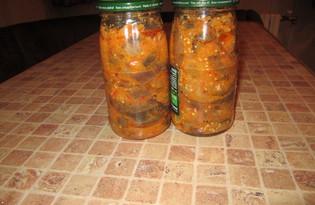 Острый салат из баклажанов на зиму (пошаговый фото рецепт)