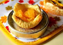 Слоеные корзиночки с апельсином (пошаговый фото рецепт)