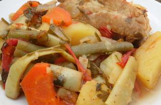 Овощное рагу со свиными ребрышками (пошаговый фото рецепт)