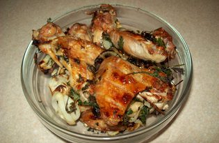 Куриные крылышки на костре (пошаговый фото рецепт)