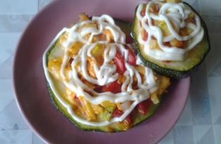 Закуска из кабачков, грудинки, помидоров, сыра и чеснока (пошаговый фото рецепт)