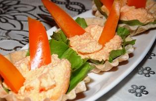 Тарталетки с икрой мойвы и болгарским перцем (пошаговый фото рецепт)