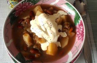 Овощное рагу с фасолью (пошаговый фото рецепт)