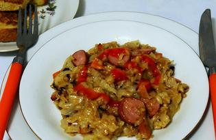 Бигус с сосисками (пошаговый фото рецепт)
