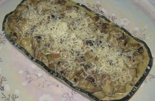 Баклажаны с грибами в сметане (пошаговый фото рецепт)