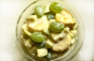 Фрукты со сметаной (пошаговый фото рецепт)