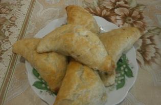 Слойки с печенью (пошаговый фото рецепт)