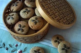 Печенье с тыквенными семечками и базиликом (пошаговый фото рецепт)