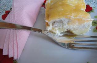 Запеченная рыба под соусом с картофелем и твердым сыром (пошаговый фото рецепт)