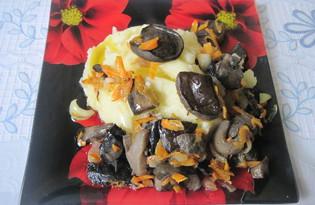Жареные подберезовики с картофельным пюре (пошаговый фото рецепт)