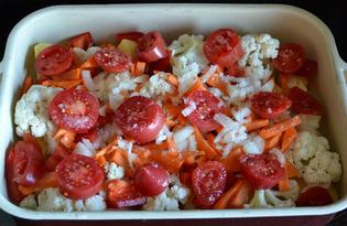 Овощное рагу запеченное в духовке (пошаговый фото рецепт)