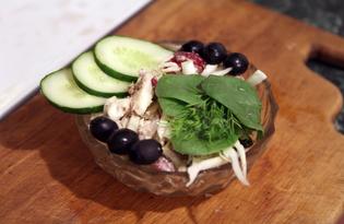 Салат с капустой и рыбной консервой (пошаговый фото рецепт)