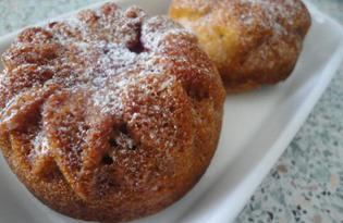 Медовые кексы с арахисом и малиной (пошаговый фото рецепт)