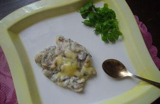 Грибной жульен со сливками (пошаговый фото рецепт)