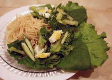 Салат с зеленой редькой (пошаговый фото рецепт)